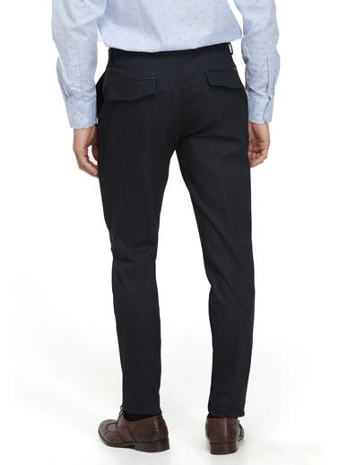 TWN Slim Fit Armürlü Kumaş Pantolon Lacivert